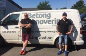 Magnus Wanne (vänster) och Michael Jönsson (höger), Betongrenovering i Väst  AB