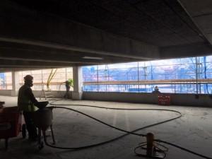 Lagning av betongskador, P-hus Pallas - btgvast.se