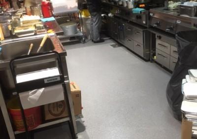 Golvet är i bruk