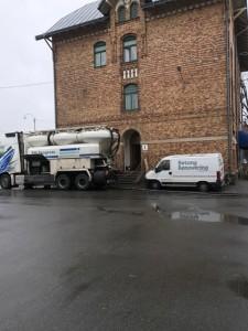 Pumpbilen på plats - Slakthusgatan Göteborg