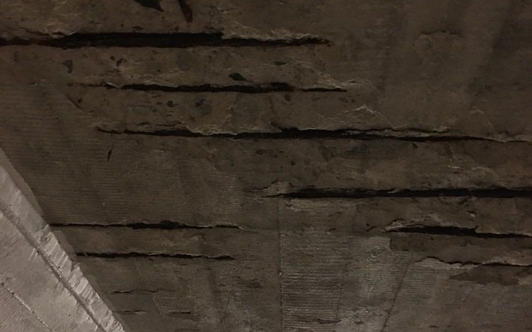 Reparation av betong vid Södra vägen