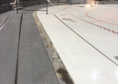 Bild 1 - Lagning betonggolv Skandinavium