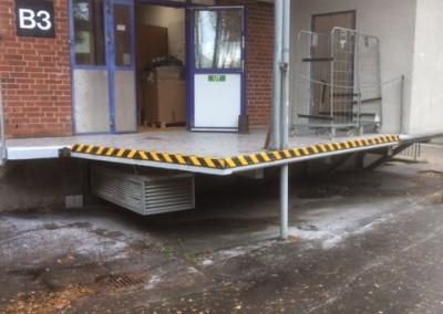 Lastbrygga Gärdsåsskolan efter renovering