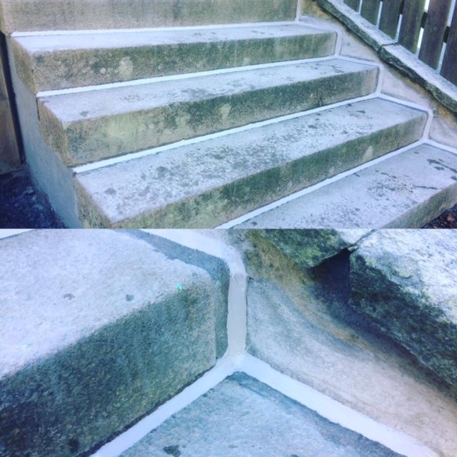 Omfogning av trappa