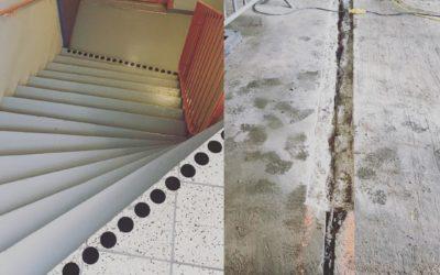 Kontrastmarkering av trappor
