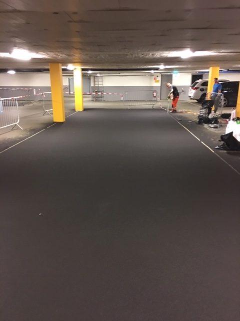 Avjämning golv Parkeringshus Eklandagatan
