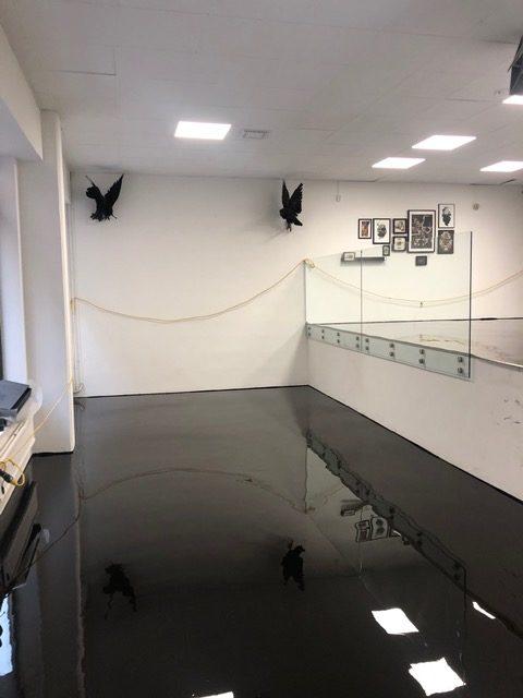 Golvarbete i affärslokal i Göteborg