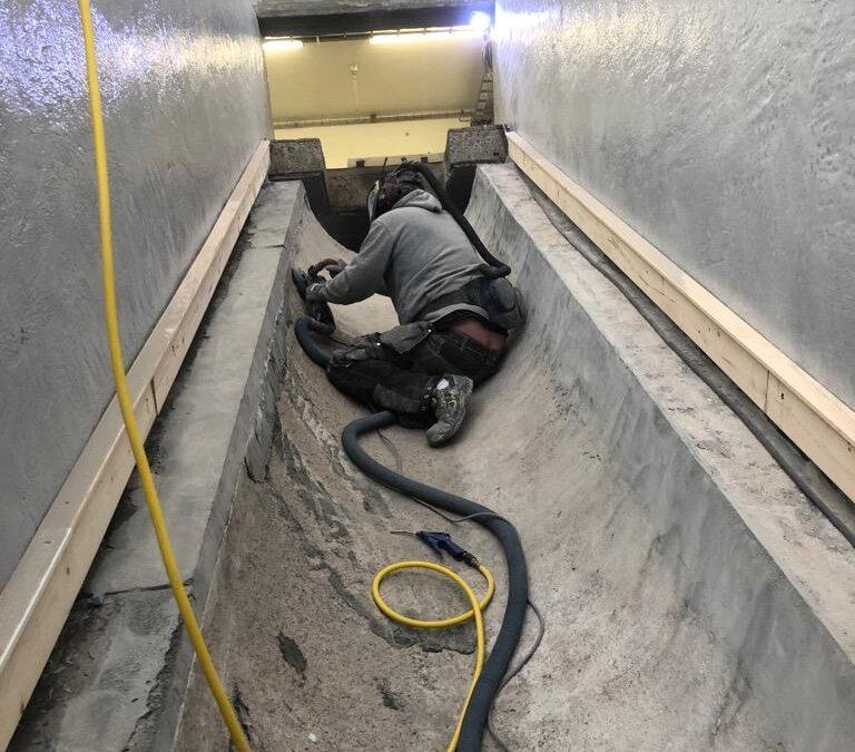 Betongrenovering och beläggning av intagstank reningsverk Kungälv
