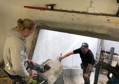Arbete med rännorna